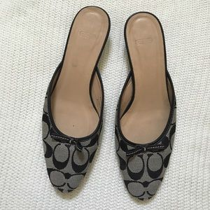 Coach Kera slip on Mules shoes
